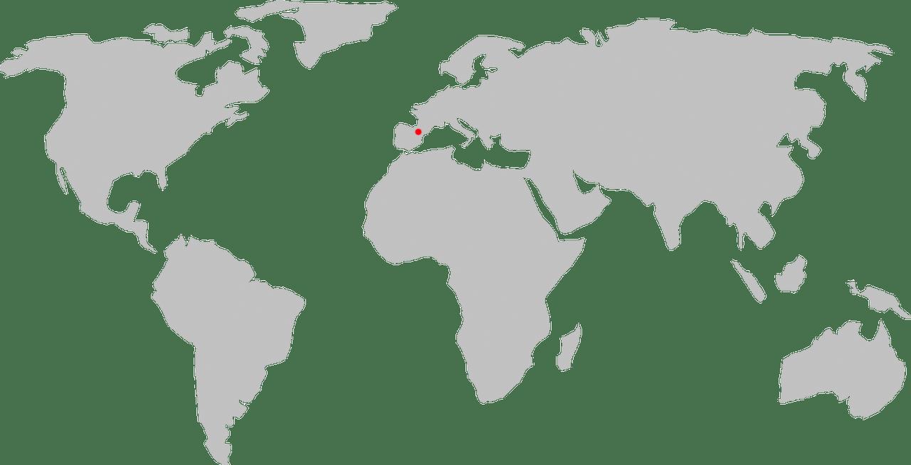 mapa Andorry